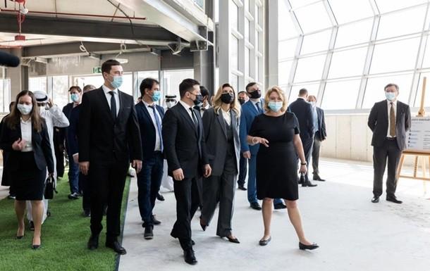 фото: чета Зеленский на выставке Экспо-2020