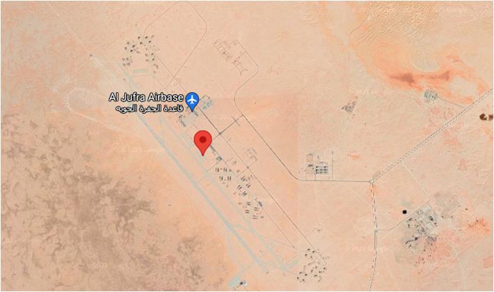 Авиабаза Аль Джуфра в Ливии на карте. Постоянное месторасположение «Пионера» и главный штаб ЧВК Вагнера в стране
