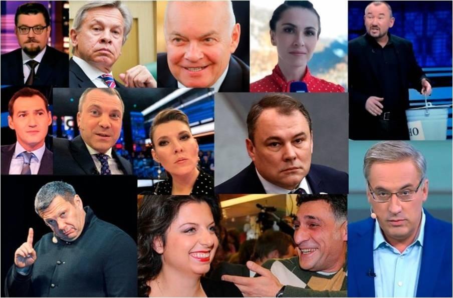 Главные пропагандисты Кремля на федеральных каналах