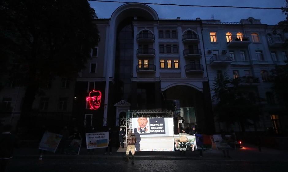 Фото: Акция у посольства Беларуси в Киеве 04