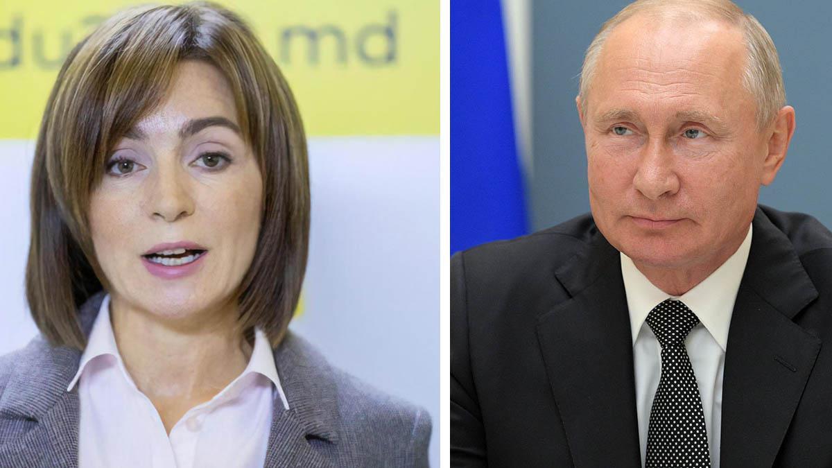 Владимир Путин пожелал успехов Майе Санду
